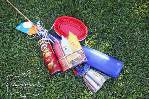 Hot Dog Roast Themed Summer Gift Basket Idea