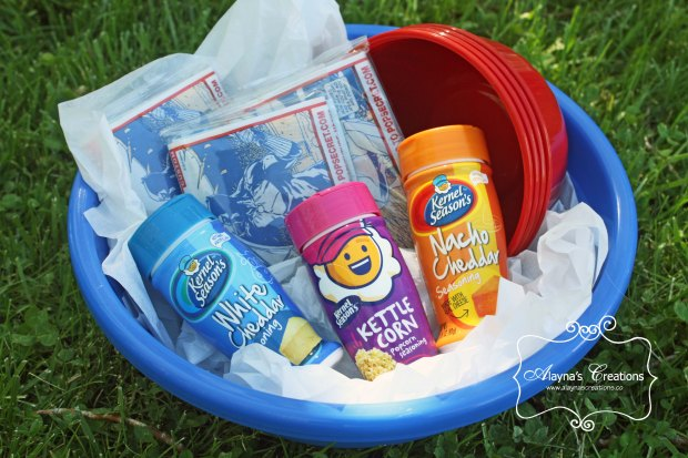 Popcorn Themed Summer Gift Basket Idea