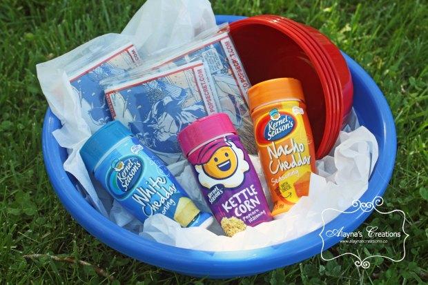 Popcorn Themed Summer Gift Basket Idea