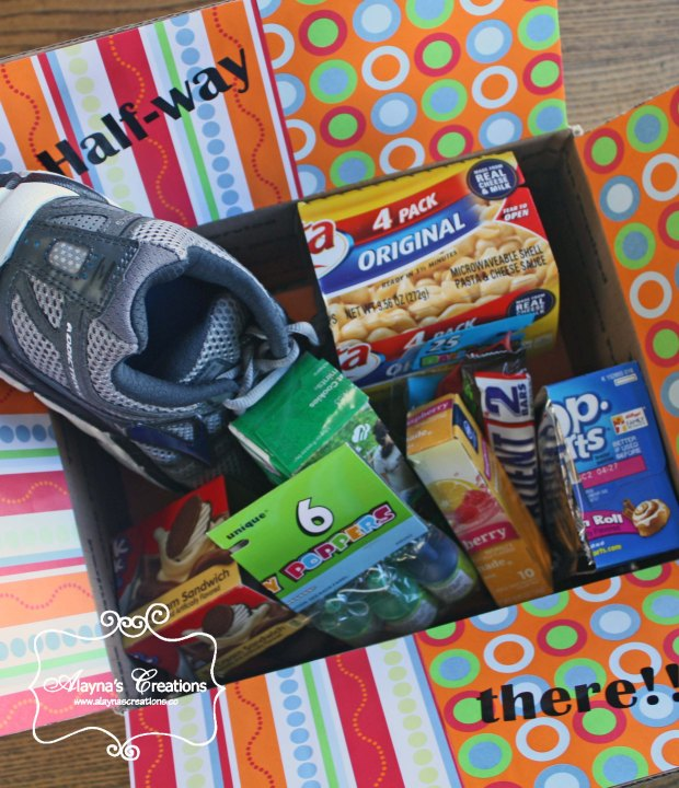 Half-Way There Deployment Care Package Celebrate the middle of a long deployment with a box full of items cut in half AlaynasCreations